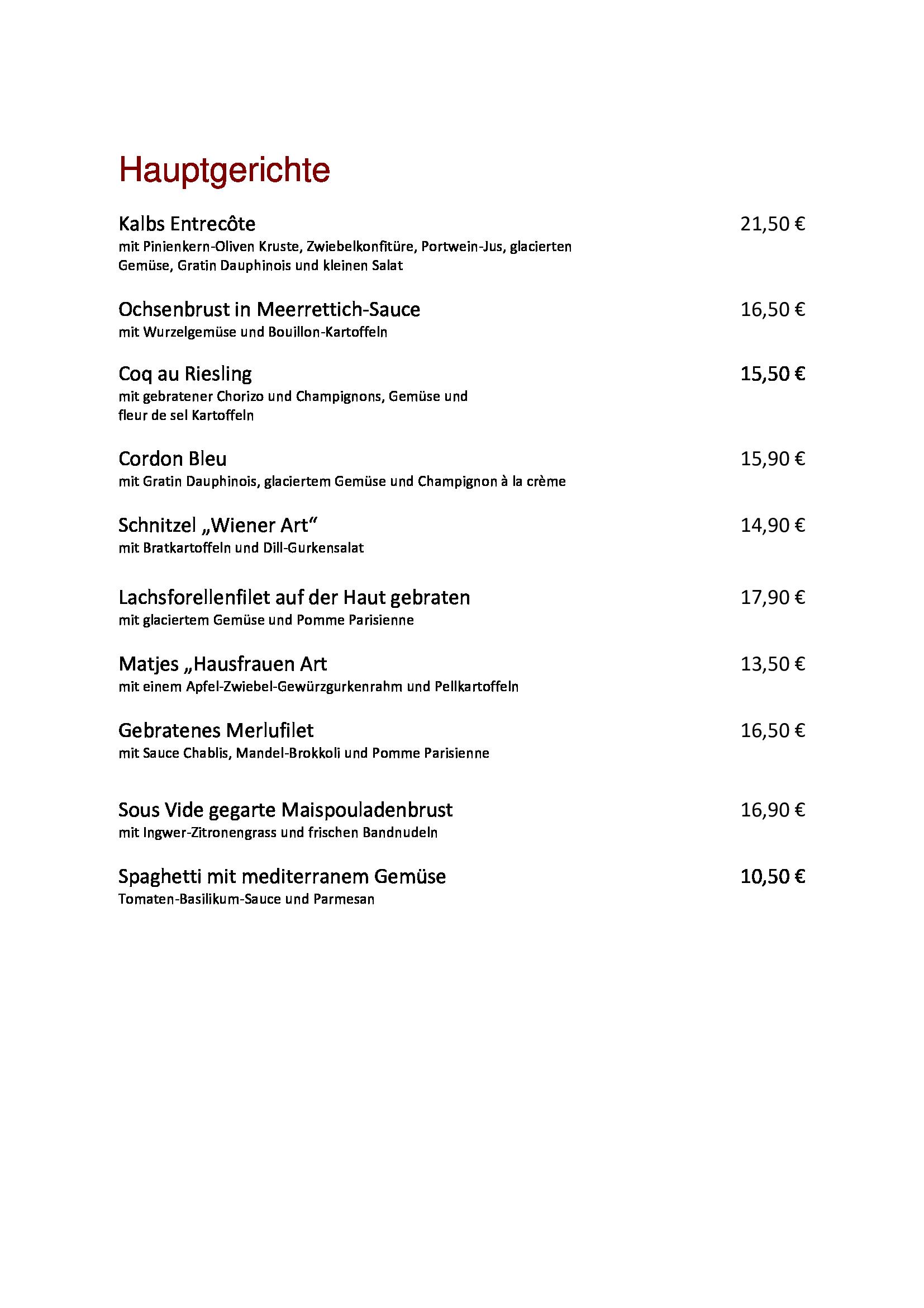 Hauptspeisen neu